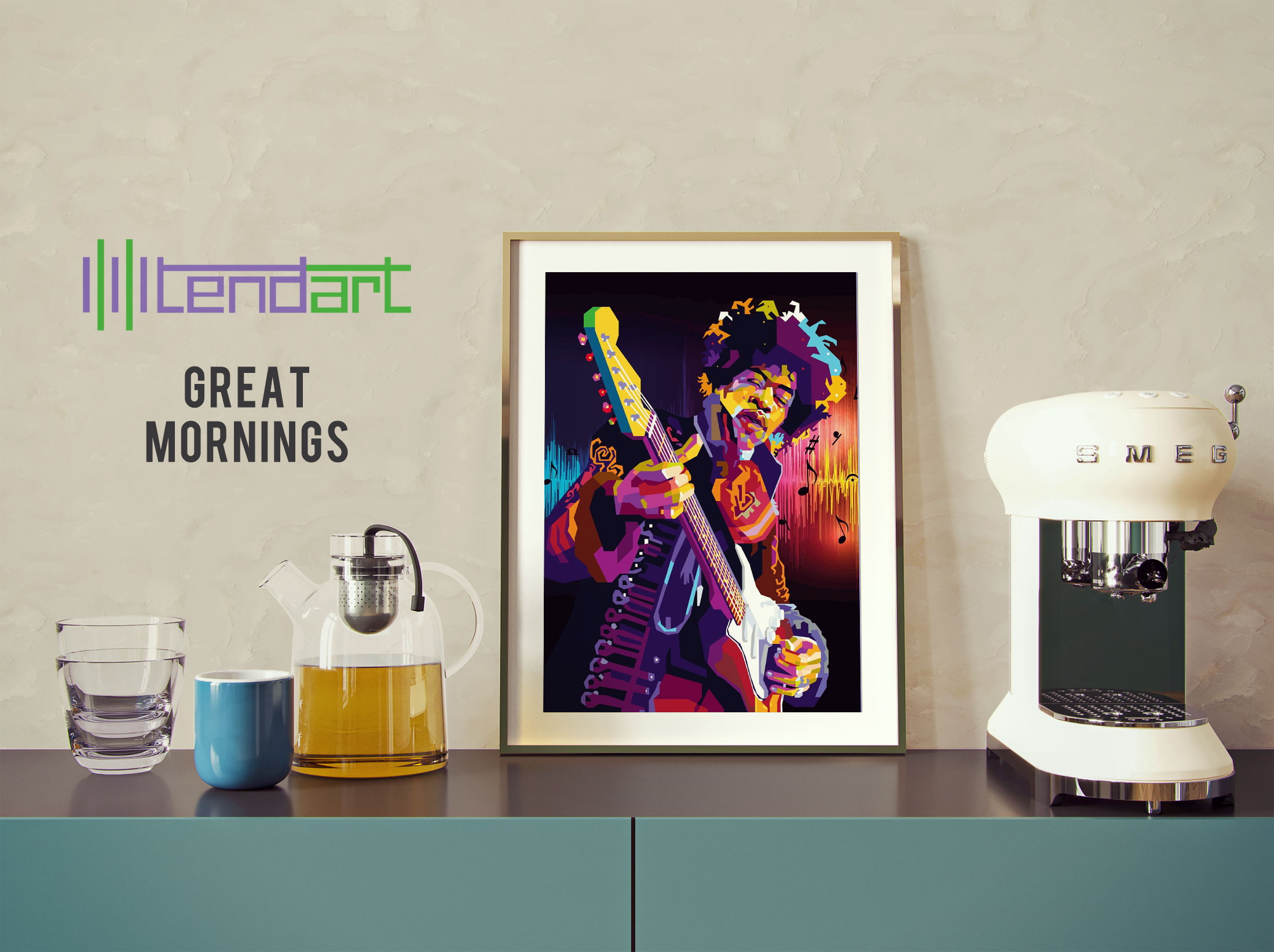 Hey Joe Jimi Hendrix tendart torbjorn endrerud dga painting