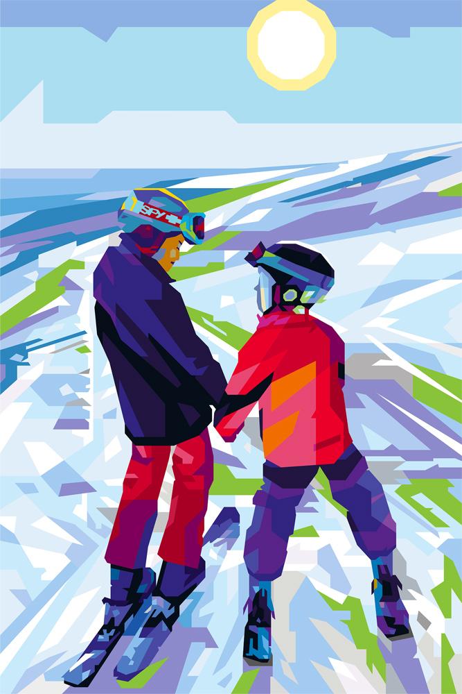tendart ski digital art torbjorn endrerud