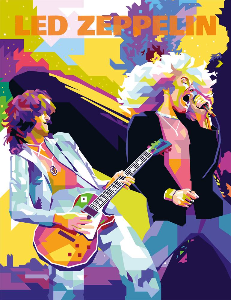 Led Zeppelin tendart dga painting torbjorn endrerud