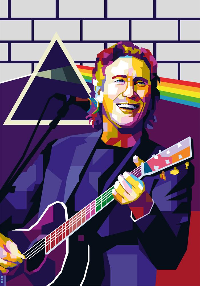 Roger Waters Pink Floyd tendart Torbjorn endrerud digital art