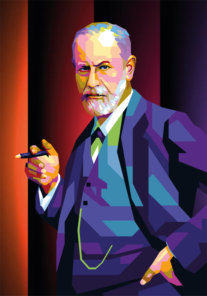 Sigmund Freud tendart Torbjørn Endrerud kunst