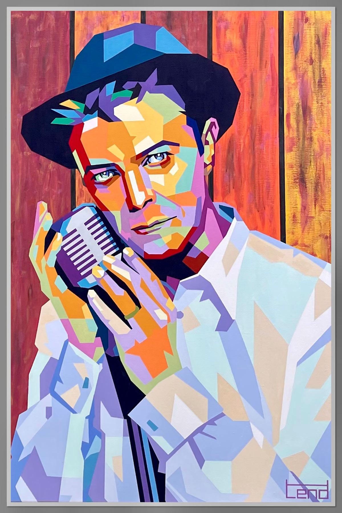 David Bowie Heroes tendart Torbjørn Endrerud Painting